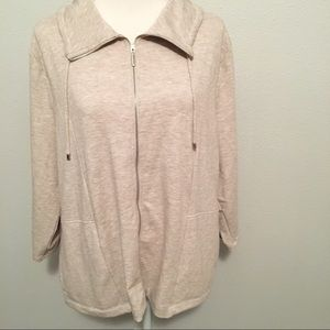 Weekends By Chico's Full Zip Soft Jacket